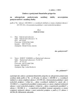 120607 zmluva o prispevku na zabezpecenie poskytovania soc.pdf