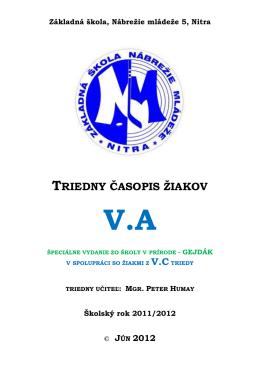 triedny časopis žiakov va - Základná škola, Nábrežie mládeže 5, Nitra