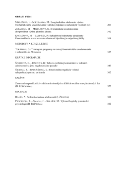 Číslo 4 - Výskumný ústav detskej psychológie a patopsychológie