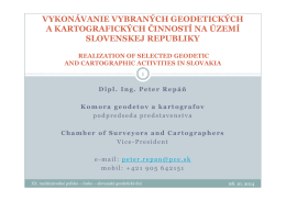 Vykonávanie vybraných geodetických a kartografických činností na