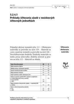 5.2.4.1 Príklady účtovania zásob v neziskových účtovných jednotkách