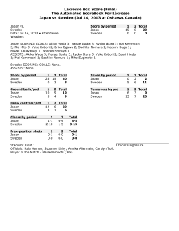 Lacrosse Box Score (Final) The Automated ScoreBook For Lacrosse