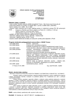 leonardo program Trnava - Střední odborné učiliště elektrotechnické