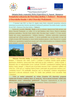 Exkurzia_do_Oravskej_dediny - Základná škola s materskou školou
