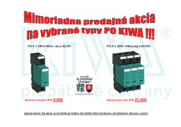 PO II 1 280V/40kA, obj.č.82.001 PO II 3 280V /40kA,obj.č.82.003