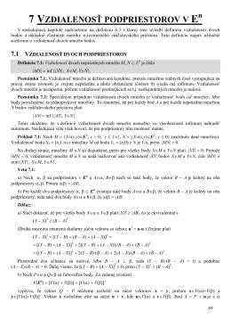 Vzdialenosť lineárnych podpriestorov a uhol lineárnych variet.