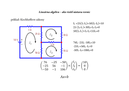 Lineárna algebra – ako riešiť sústavu rovníc príklad: Kirchhoffove