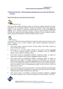 1.5 Interná smernica - Harmonogram postupu prác pri zostavení
