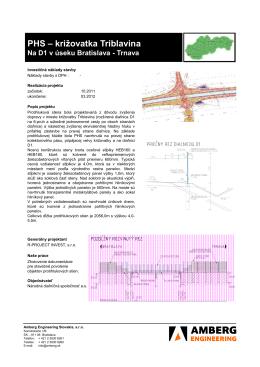 PHS – križovatka Triblavina - Amberg Engineering Slovakia, sro