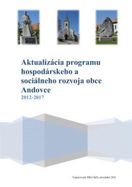 Aktualizácia programu hospodárskeho a sociálneho rozvoja obce