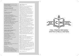 Konštantínove listy 2013 – obsah - Univerzita Konštantína Filozofa v