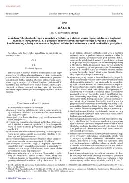 373/2012 - Správa štátnych hmotných rezerv Slovenskej republiky