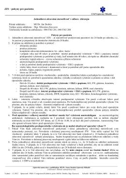 Zápisnica z pracovnej porady - Liptovská nemocnica s poliklinikou