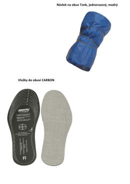 Návlek na obuv Tonk, jednorazový, modrý Vložky do obuvi CARBON