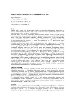 1. Expresia karbonickej anhydrázy IX v nádoroch štítnej žľazy