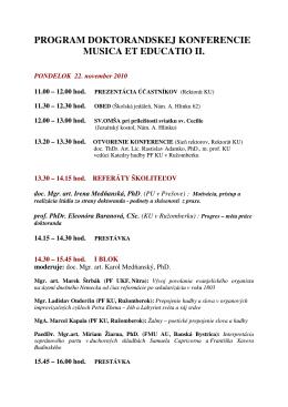 PROGRAM - Doktorandská konferencia 2010.pdf