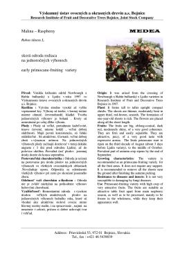 medea - Výskumný ústav ovocných a okrasných drevín as Bojnice