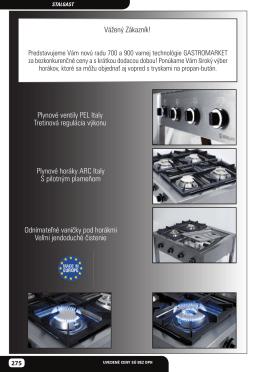Plynové ventily PEL Italy Tretinová regulácia výkonu Plynové horáky