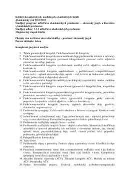 Inštitút slovakistických, mediálnych a knižničných štúdií Akademický