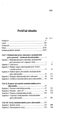 Medzinarodne pravo sukromne / Natalia Stefankova, Peter Lysina a