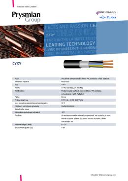Popis Viacžilové silnoprúdové káble s PVC izoláciou a PVC plášťom