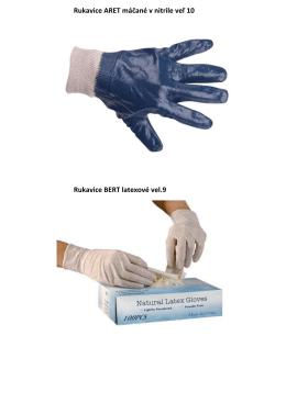 Rukavice ARET máčané v nitrile veľ 10 Rukavice BERT latexové vel.9