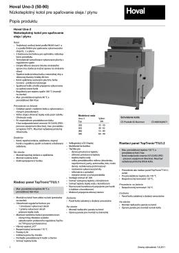 Hoval Uno-3 (50-90) Nízkoteplotný kotol pre spaľovanie oleja / plynu