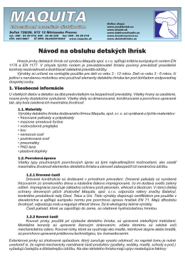 návod na údržbu - Maquita - Educational materials distribution