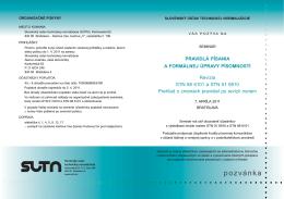 Pozvánka (pdf, 87 kB) - Slovenský ústav technickej normalizácie