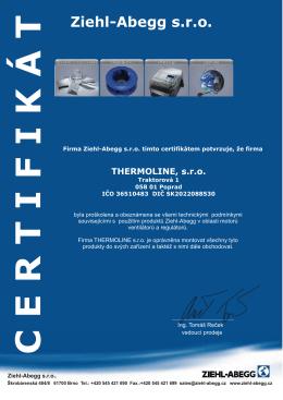 certifikát Thermoline02.cdr