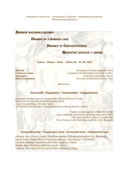 Nemzetközi konferencia - Fakulta stredoeurópskych štúdií UKF Nitra