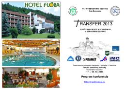 Program konferencie - Trenčianska univerzita Alexandra Dubčeka v