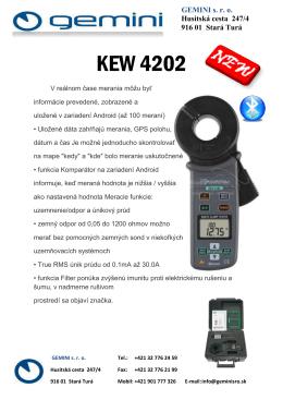 KEW 4202 - GEMINI s. r. o.