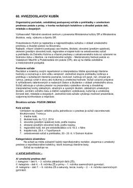 propozície na stiahnutie - Krajské osvetové stredisko v Nitre