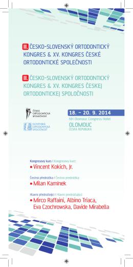 První oznámení (.pdf) - kongres České ortodontické společnosti