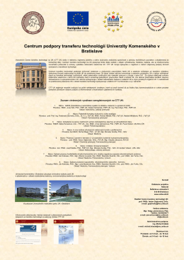 Centrum podpory transferu technológií Univerzity Komenského v