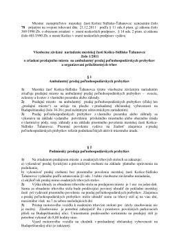 VZN č.1_2011 o zriadení predajného miesta na ambulantný predaj
