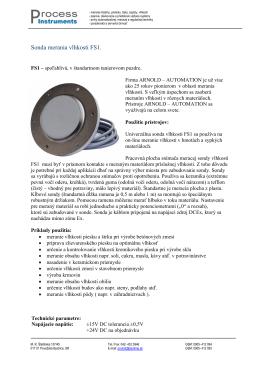 Sonda merania vlhkosti FS1.