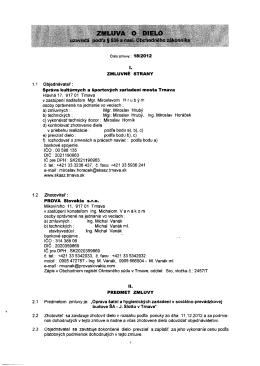l. 1.1 Objednávatel - Správa kultúrnych a športových zariadení