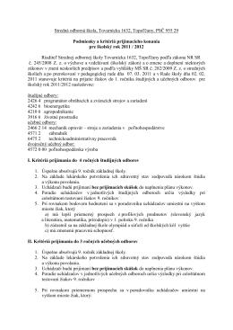 Stredná odborná škola, Tovarnícka 1632, Topoľčany, PSČ 955 29