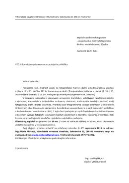 Informácia o podujatí + pozvánka - Podduklianske osvetové stredisko