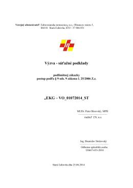 Výzva - súťažné podklady - Ľubovnianska nemocnica n. o.