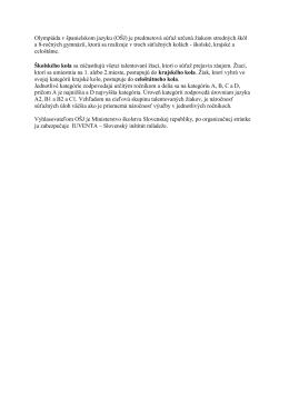 Olympiáda v španielskom jazyku (OŠJ) je predmetová súťaž určená