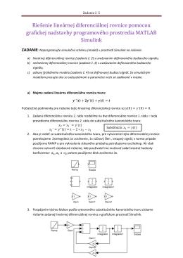 Z5-Riešenie lineárnej diferenciálnej rovnice pomocou grafickej
