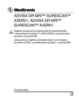 advisa dr mri™ surescan™ a3dr01, advisa sr mri™ surescan™ a3sr01