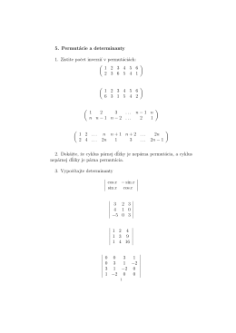 5. Permutácie a determinanty 1. Zistite pocet inverziı v permutáciách