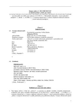 Kúpna zmluva č. 2011/OBCH/IF/367 na dodávku liekov a liečiv pre