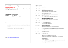 program v PDF - Eunis.SK - Slovenská poľnohospodárska univerzita