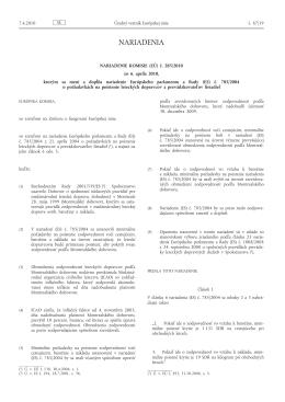 Nariadenie Komisie (EÚ) č. 285/2010 zo 6. apríla 2010, ktorým sa