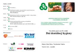 dni dentálnej hygieny 2013.pdf - Asociácia dentálnych hygieničiek v
